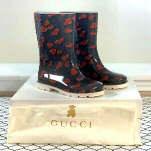 Authentic gucci toddler rainboots